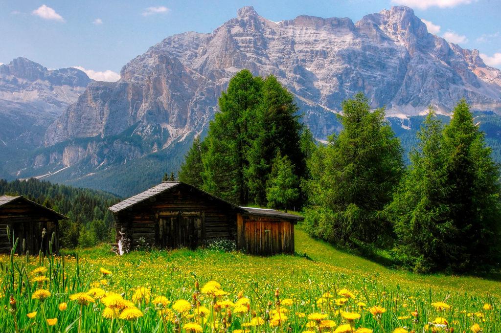 Доломиты в Северной Италии