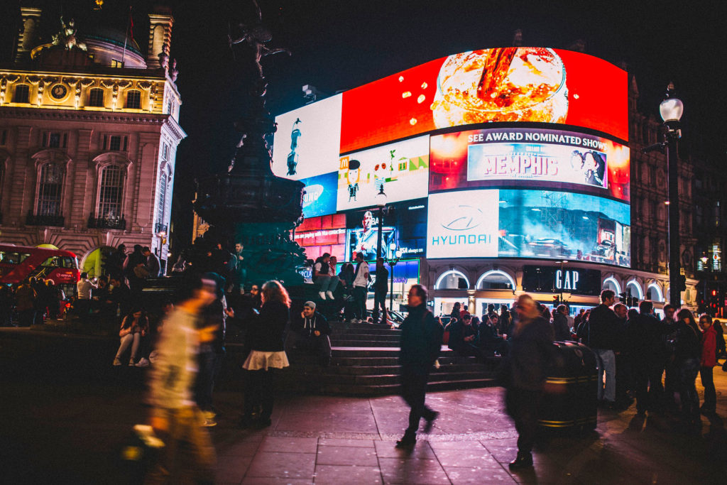 Cтуденты в Лондоне