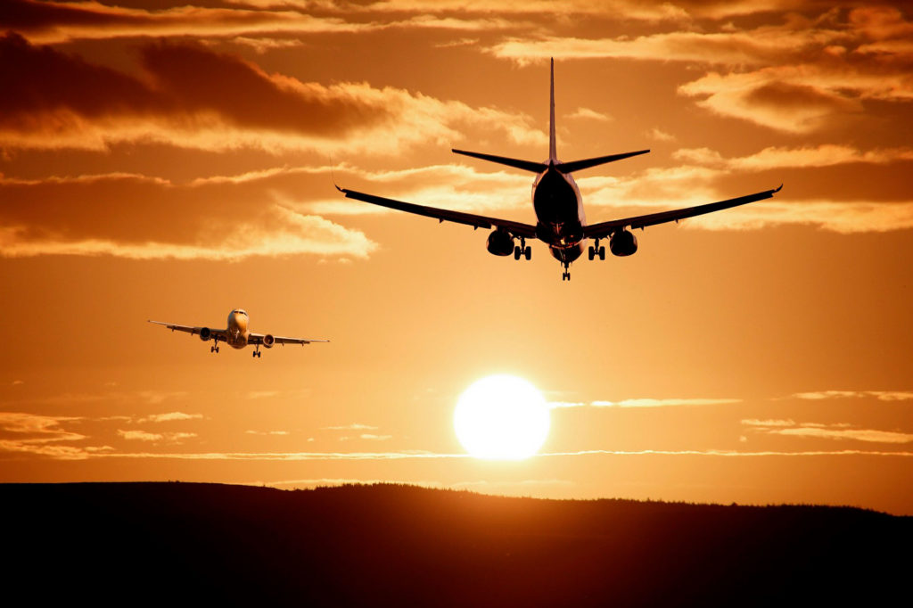 перелет на самолете