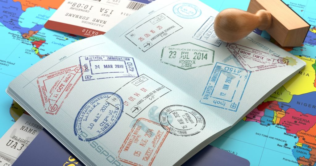 Виза в паспорте