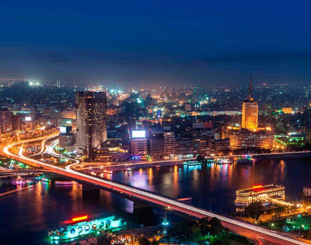Ночной город Каир