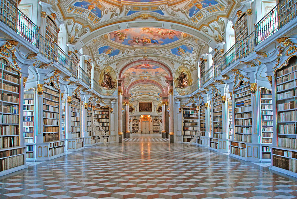 Библиотека аббатстваАдмонт